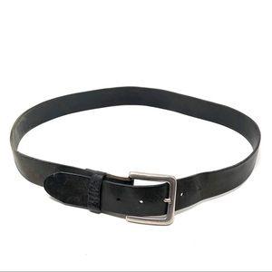 Harley Davidson Black Leather Logo Embossed Belt